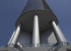 Porsche Design Tower, Columns